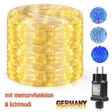 LED Lichtschlauch Außen Lichterschlauch Garten Party Deko IP65 EU Stecker 10-20M