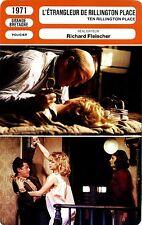 Fiche Cinéma. Movie Card. L'étrangleur de Rillington Place (G-B) 1971 Fleischer