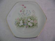 RETRO 1970s VINTAGE KANESHO CHINA PORCELAIN FLOWER CAKE PLATE DISH