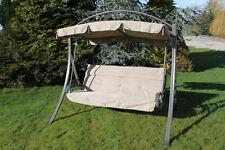 Chatsworth Luxury Heavy Duty Garden 3 Seater Swing Seat with Cushion-HC2007