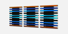 Abstract Modern Metal Wall Sculpture Art Panels Painting Blue Orange Home Decor