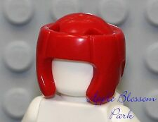 NEW Lego City Minifig RED SPORT GEAR HELMET -Minifigure Boxing/Wrestling Cap Hat