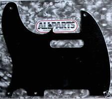 Pickguard Telecaster Vintage USA 1ply 5H Left-Handed Black Lefty PG-0560-L23
