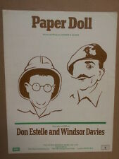 song sheet PAPER DOLL Don Estelle and Windsor Davies