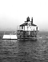 "1906 Bug Lighthouse, Boston, MA Vintage Photograph 8.5"" x 11"" Reprint"