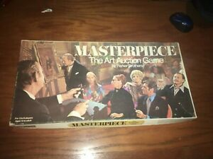 Vintage 1970 MASTERPIECE The Art Auction Board Game, Parker Brothers *COMPLETE!*