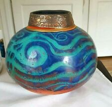 Raku Art Pottery Fine Vase by Steven Forbes De Soule Hand Crafted No Reserve