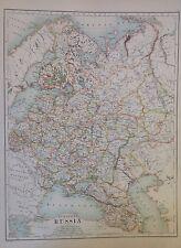 Asia-Russia europea ANTICA MAPPA 1 891 GRANDI 2 LATI ATLAS