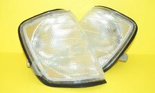 Mercedes E class W124 Sedan Wagon Coupe Corner Lights PAIR WHITE CLEAR 1985-1995