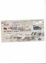 FORMEL 1 Hockenheimring 1999, F1 Grand Prix von D, Sammler Ticket, not used