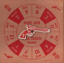 Vintage 1959 Have Gun Will Travel Tv Board Game Replacement Spinner Part / Peice