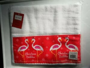 Christmas bath towel NOVELTY CHRISTMAS FLAMINGO BATH TOWEL christmas bubbles