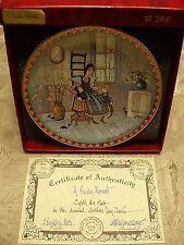 """P Buckley Moss Christmas Plates """"A Precious Moment"""" Signed/Number 588/5000 NEW"""