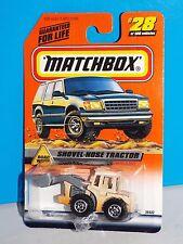 Matchbox 1999 Road Work Series #28 Shovel-Nose Tractor Tan