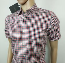 c194c1d3fd1feb Ted Baker London Mens Shirt Red Gingham Check Size 4 UK L Chest 42