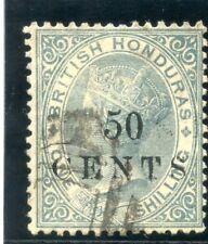 British Honduras 1888 QV 50c on 1s grey very fine used. SG 30. Sc 25.