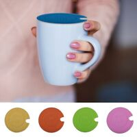 Silicone Cup Lid Dustproof Cup Cap Replacement Glass Coffee Mug Cover Top Hole