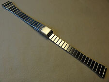Casio Stainless Steel Adjustable Clasp Regular 13mm Watch Band Fits Any Brand