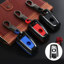Carbon Fiber Remote Key Case Cover Fob For BMW 1 2 3 4 5 6 7 Series F10 F20 F30