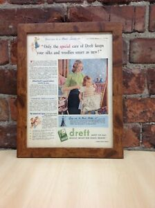 Framed Original Vintage Deft Advert from Picture Post Magazine February 23, 1952