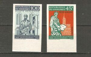 Dahomey 344-345 Buchdruck Gutenberg ungezähnt postfrisch