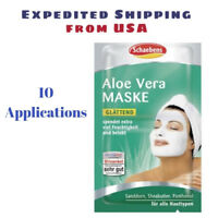 10 Applications Schaebens Moisturising Aloe Vera face mask - German Made