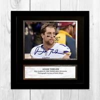 """Adam Thielen NFL Minnesota Vikings framed/unframed signed poster (10""""x10"""")"""