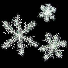 Set of 6x Large Snowflakes with Iridescent Fluff! Xmas Decoration Christmas