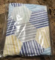 Pottery Barn Kids west elm x PBK Striped Geo crib fitted sheet, gray multi