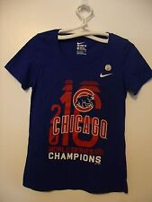 Nike Chicago Cubs 2016 World Series Champions T-Shirt Womens: Med