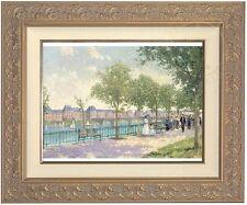 Thomas Kinkade Sunday Stroll 12 x 16 LE S/N Canvas (Clarrisa Frame) Girrard