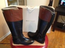 Womens Size 7 Marc Fisher Black Leather Calf Riding Boots