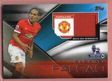 f28e42b16 RADAMEL FALCAO Manchester United 2014 Topps Premier Gold Football Fibers  Jersey