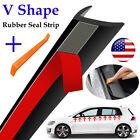 V-Shape Car Door Side Window Trim Edge Moulding Weatherstrip Seal Strip Rubber  for sale