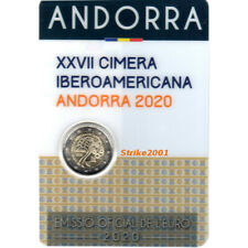 NEW !!! Coin Card 2 EURO COMM ANDORRA 2020 Fdc Summit Ibero Americano NEW !!!