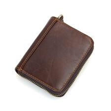 Genuine Leather Pocket Organizer Card Holder, Dark Brown
