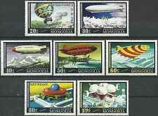Timbres Ballons Dirigeables Mongolie PA85/91 ** lot 11710
