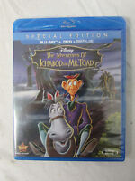New Sealed Blu-Ray DVD Digital HD Disney The Adventures of Ichabod and Mr Toad