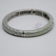 Size S lia sophia jewelry enamel bangle vintage silver tone bracelet for women