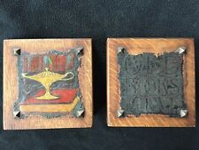 1910 Arts and Crafts Oak Bookends made in East Aurora,N.Y.