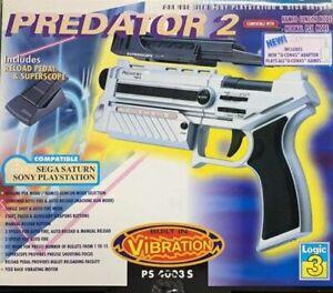 Predator 2 Light Gun Pistola Nuova compatibile con PS1 e Sega Saturn
