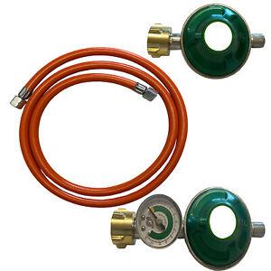 Schläuche 80 150 200 cm Regler + Manometer 30 mbar Druckregler für Gas