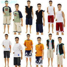 4 Pcs = 2 Set Sports Outfit Shorts Shirt Clothes For 12 in. Ken Doll Kid Gift AA