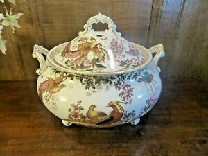 """RARE EXCELLENT ROYAL CROWN DERBY """"OLDE AVESBURY"""" SERVING/SOUP TUREEN with LID"""