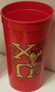 ONE CHI OMEGA Alexandra and Company 2-SIDED Thick Plastic Cup XO CO