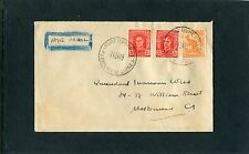 1947 Air Mail Cover 3 Stamps Port Moresby 11JA47 CDS Cover To Melbourne, VGC