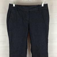 Talbots womens size 6P stretch dark blue flat front mid rise bootcut dress pants