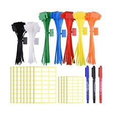 SIQUK 160 Pieces Zip Tie Tags Colorful Zip Tie Labels in 4/6 Inches Self Lock...