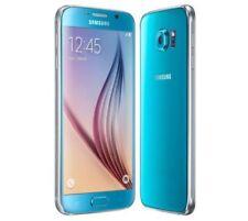 Téléphones mobiles bleus Samsung Galaxy S6 4G