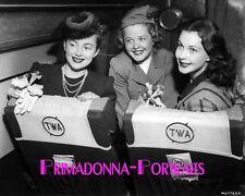 VIVIEN LEIGH, OLIVIA DE HAVILLAND & SUZANNE FARRINGTON 8X10 Lab Photo TWA 1940s